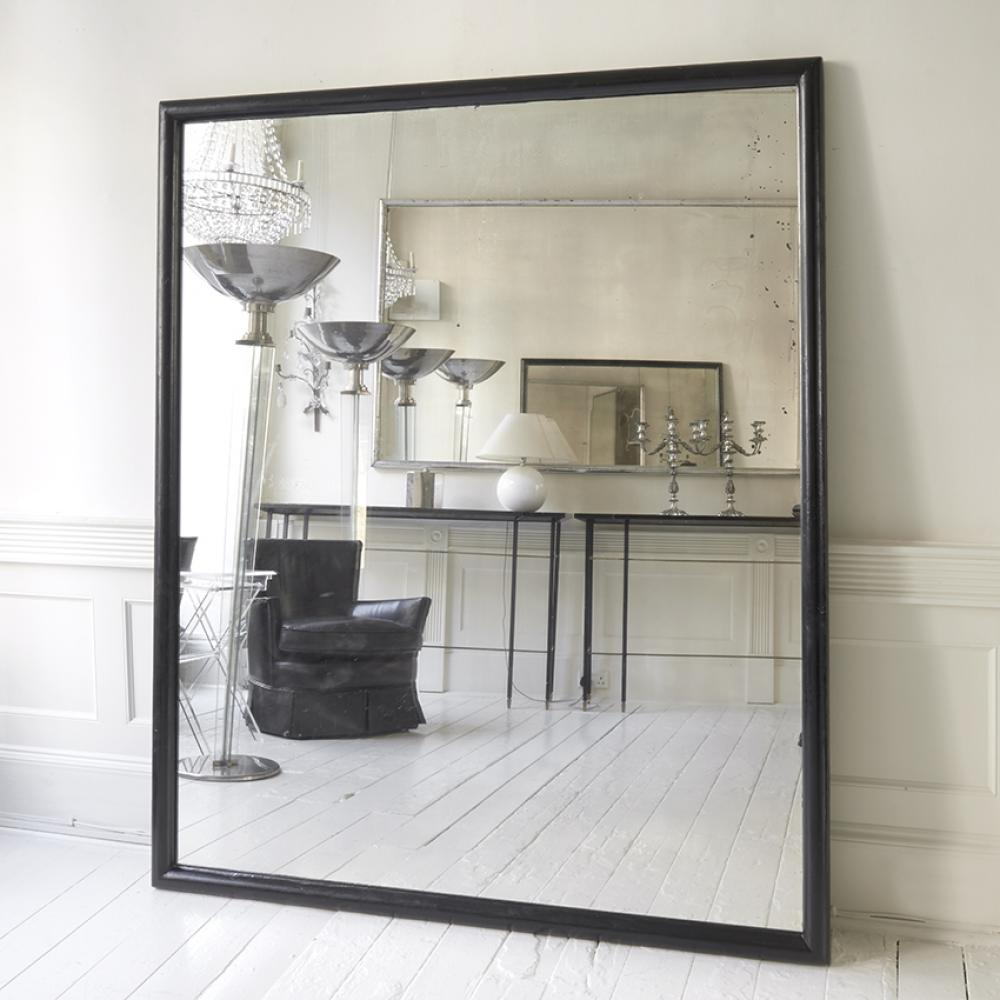 Large black framed ballet school mirror in mirrors for Big framed mirror