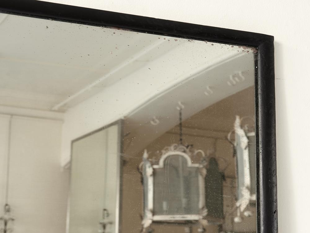 Black thin framed mirror in mirrors for Large black framed mirror